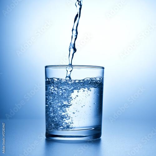 Plissee mit Motiv - Mineralwasser