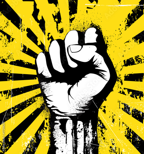Fotografija Illustration of a clenched fist
