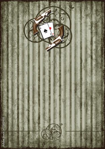 Photo  Grunge background with vintage vignette