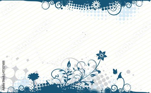 Tuinposter Vlinders in Grunge floral background