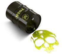 Barrel Throwing Toxic Liquid (...