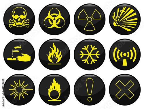 Plakaty BHP ikona-zwiazana-z-ostrzezeniem-o-zagrozeniach-jest-ustawiona-indywidualnie-dla-kazdej-warstwy