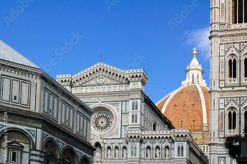 Canvas Print Firenze collage: Battistero, duomo, campanile, cupola
