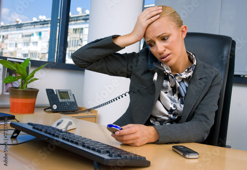 Fototapeta stressed business woman obraz