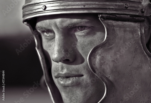 Fotomural Roman soldiers. Close-up face.