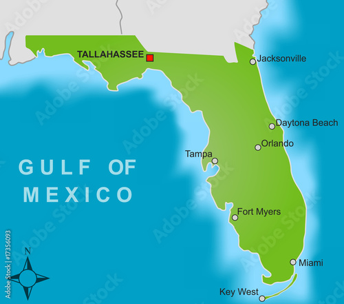 Karte Florida Miami.Karte Florida Buy This Stock Vector And Explore Similar