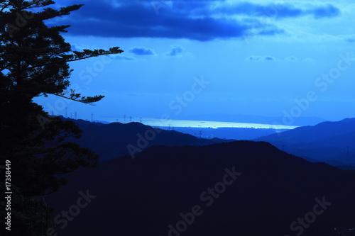 Fotobehang Volle maan 高野山の風景
