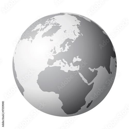 Fotografie, Obraz  globo terrestre