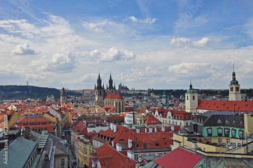Poster Prague Blick vom Pulverturm