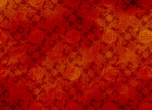 Chinese Red Textured Pattern In Filigree For Background