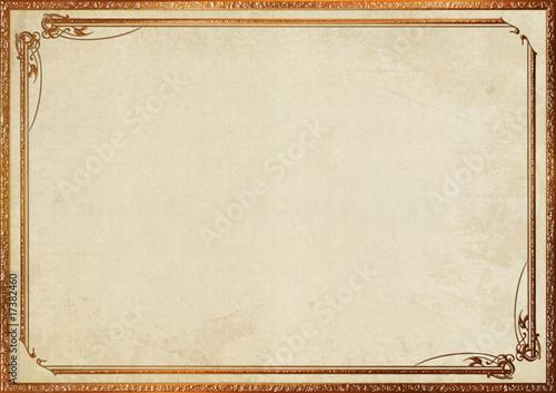 金枠のシンプルなフレーム Adobe Stock でこのストックイラストを購入