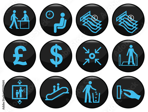 Plakaty BHP zestaw-ikon-biznesowych-i-zwiazanych-z-pakietu-office-czarny