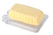Handmade butter, isolated