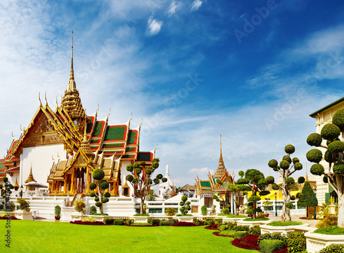 Traditional Thai architecture Grand Palace Bangkok Poster