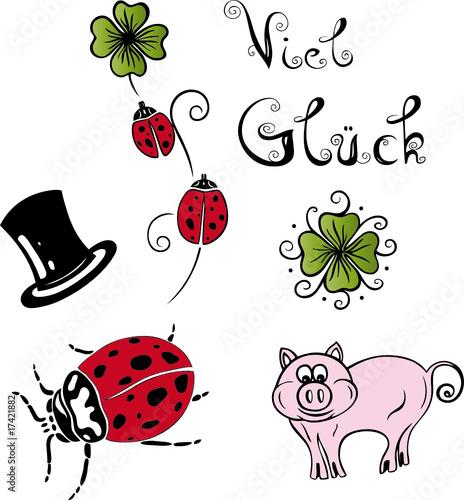 Silvester Sylvester Neujahr Glück Klee Schwein Buy This Stock