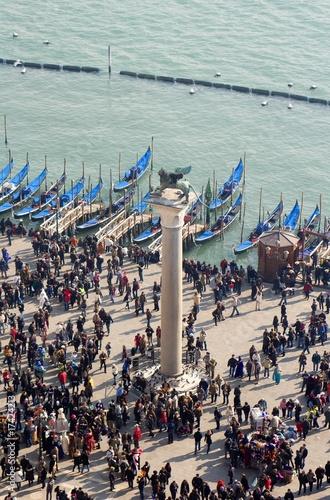 Foto auf AluDibond Bahnhof Venice - column and square of st. Mark
