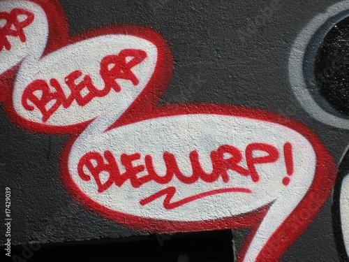 Valokuva  Graffiti onomatopée rot