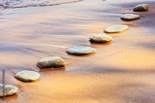 Aluminium Prints Stones in Sand Stones and Sand