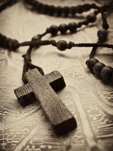 rosary cross Fototapeta
