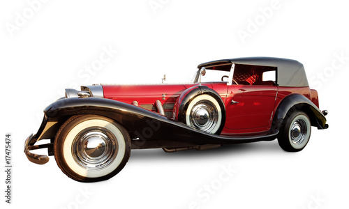 Keuken foto achterwand F1 Vintage red car isolated on white