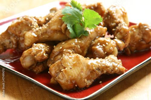 Foto op Aluminium Kip Teriyaki Chicken Wings