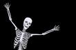 Halloween Skelett Happy Black