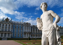 Sculpture In Front Of The Catherine Palace, Petersburg, Russia