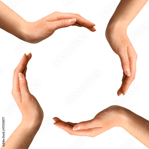 Fototapety, obrazy: Hands Making a Circle