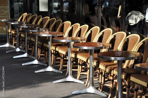 Terrasse De Cafe Parisien Buy This Stock Photo And Explore Similar