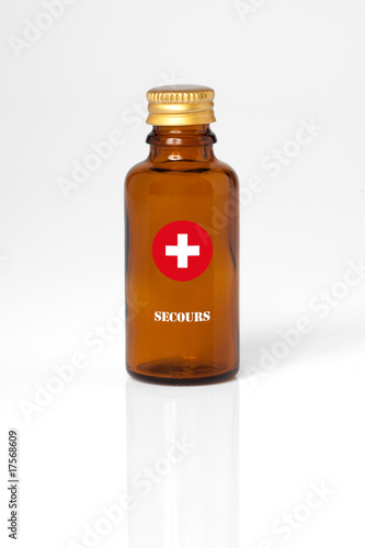 Photo secours sirop fiole bouteille urgence antidote solutions infirme