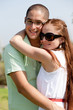young couple smile