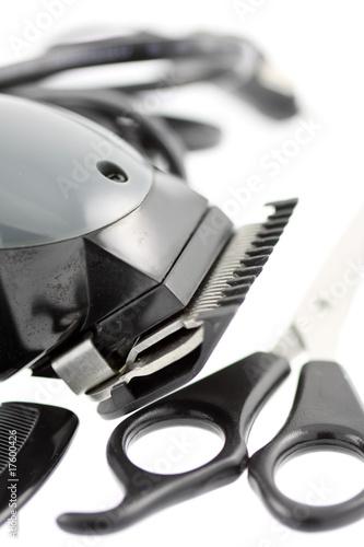 coupe cheveux Fotobehang