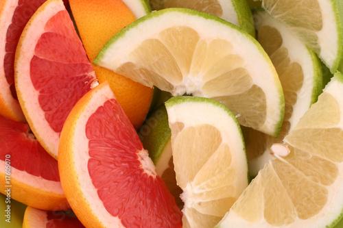 Fototapety, obrazy: Grapefruit slices