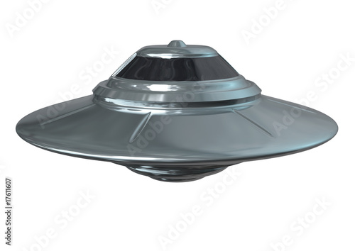 Shiny Ufo Iisolated Poster