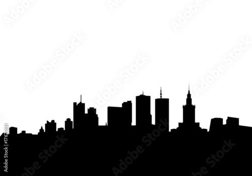 warszawa miasto wektorowy skyline