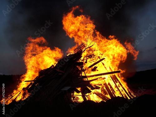 In de dag Vuur / Vlam Feuer
