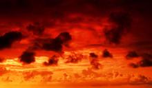 Fire In The Sky Cloudscape Bac...
