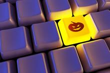 """Keyboard With """"halloween Pumpk..."""