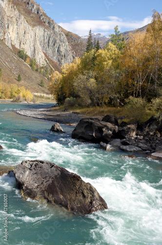 Foto op Aluminium Rivier Azure river