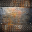 canvas print picture - pattern of metal background