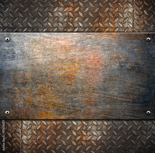 Poster Metal pattern of metal background