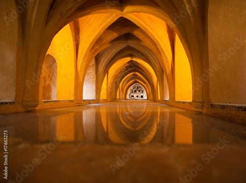Stampa su Tela Anciens bains arabes dans le palais de l'Alcazar