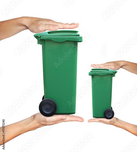 Fotografia, Obraz  déchet poubelle ordure traitement tri volume recyclage augmentat