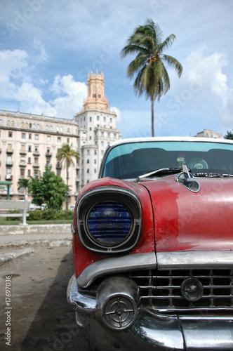 Deurstickers Cubaanse oldtimers Oldie