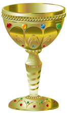 Golden Goblet With Precious Stones