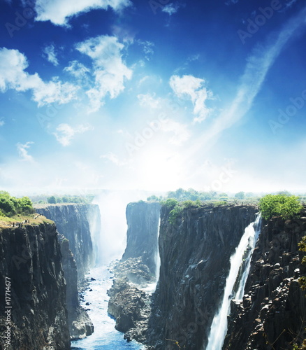 Fototapeten Wasserfalle Waterfall Victoria