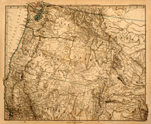 Original Map Of America's Paci...
