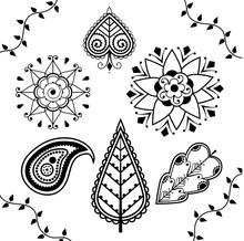 Indian Henna Design Elements
