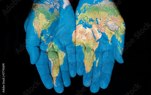 Nowoczesny obraz na płótnie World In Our Hands