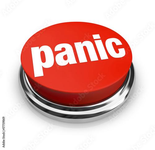 Fotografía  Panic - Red Button